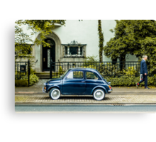 A car and a man Canvas Print