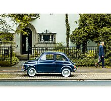 A car and a man Photographic Print