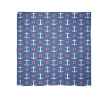 Navy anchors pattern Scarf