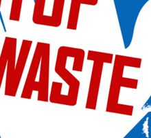 Stop Waste - It's Your Patriotic Duty - WWII Poster Sticker