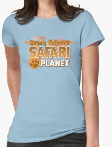 Brian Fellow's Safari Planet Womens Fitted T-Shirt