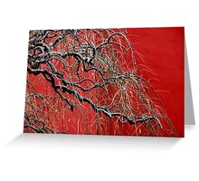 Chinese tree in winter. Greeting Card
