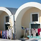 Oia Laundry Day by phil decocco