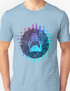 Blue and purple shark attack T-Shirt