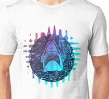 Blue and purple shark attack Unisex T-Shirt