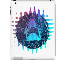 Blue and purple shark attack iPad Case/Skin