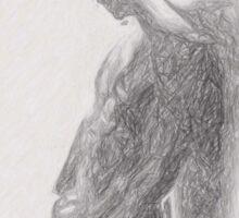 Angel backlit by Quim Abella Sticker