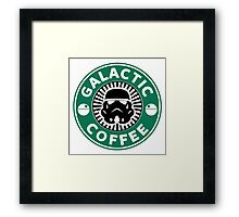 I like my coffee dark. Framed Print