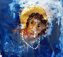 Project of Theotokos. Naama as iraqian Lady. acrylic in paper by CoolMatters .