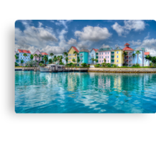 Harbour Village in Paradise Island, Nassau, The Bahamas Canvas Print
