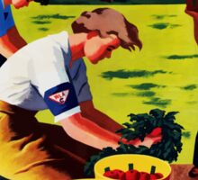 Join The Women's Land Army -- WWII Sticker