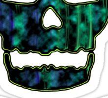 green punk skull Sticker