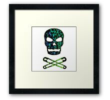 green punk skull Framed Print