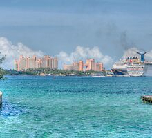 Atlantis Towers and Cruise Ships in Nassau, The Bahamas by Jeremy Lavender Photography