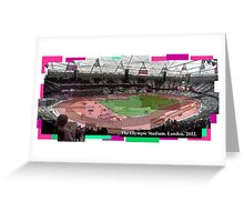 The Olympic Stadium. London. 2012. Greeting Card