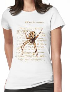 Spider Letter  Womens Fitted T-Shirt