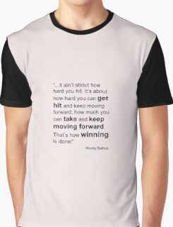 Rocky Balboa Quote How Hard You Get Hit Boxing Inspirational Graphic T-Shirt