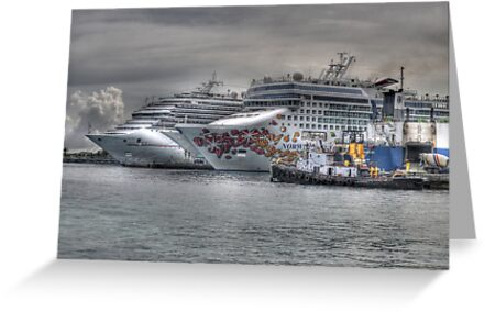 Cruise Ships at the Prince George Wharf in Nassau, The Bahamas by 242Digital
