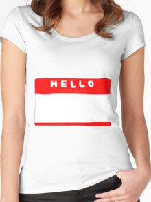 my name is name tag Women's Fitted Scoop T-Shirt