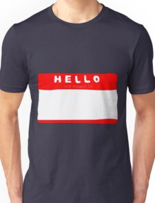 my name is name tag Unisex T-Shirt