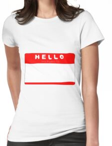 my name is name tag Womens Fitted T-Shirt