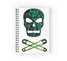 green punk skull Spiral Notebook
