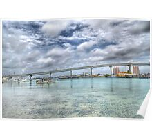Bridge over Potter's Cay in Nassau, The Bahamas Poster