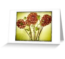 late summer dahlias Greeting Card