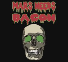 Mars Needs Bacon - Skull by perilpress