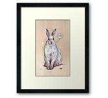 Snow bunny 2 Framed Print