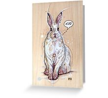 Snow bunny 2 Greeting Card