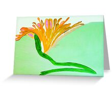 Spirit Flowers - Abundance with orange and pink petals Greeting Card