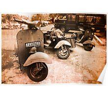 vintage vespas Poster