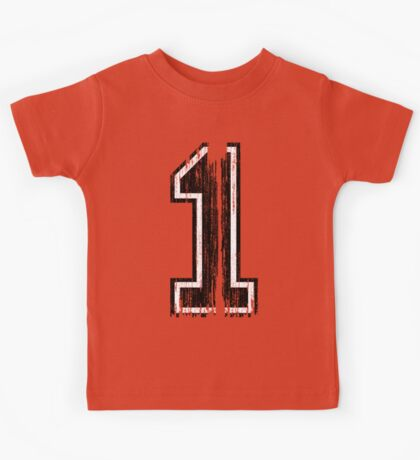 Bold Distressed Sports Number 1 Kids Tee