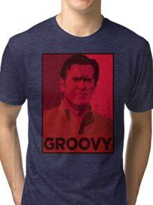 ASH WILLIAMS GROOVY (Ash vs Evil Dead) Tri-blend T-Shirt