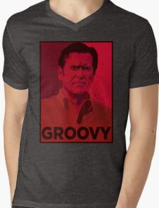ASH WILLIAMS GROOVY (Ash vs Evil Dead) Mens V-Neck T-Shirt