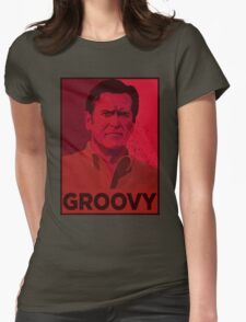 ASH WILLIAMS GROOVY (Ash vs Evil Dead) Womens Fitted T-Shirt