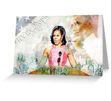 The First Lady Greeting Card