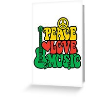 Reggae Peace-Love-Music Greeting Card