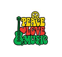 Reggae Peace-Love-Music Photographic Print