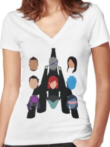 The Squad Women's Fitted V-Neck T-Shirt