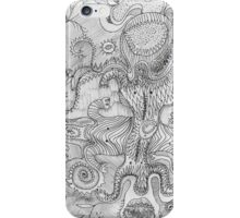abstract fantasy white\black iPhone Case/Skin