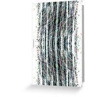 abstract wood Greeting Card