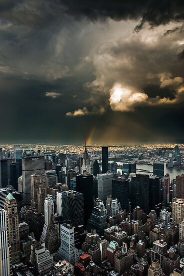 Great Skies over Manhattan by hannes cmarits