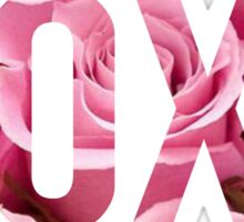 XOXO Floral Roses Sticker