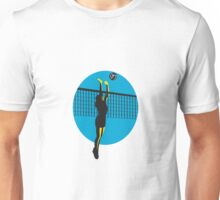 Volleyball Player Spiking Ball Retro Unisex T-Shirt