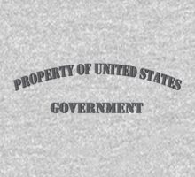 Property of US Government Kids Tee