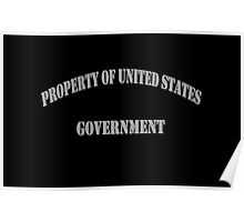 Property of US Government Poster