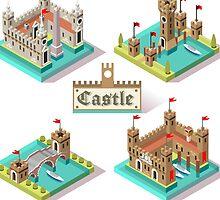 Medieval Castle Tiles by aurielaki