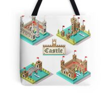 Medieval Castle Tiles Tote Bag